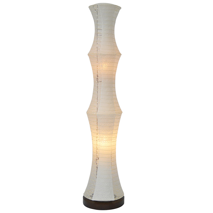 フロアライト 和紙 tower 極み麻葉×麻葉白 電球付属 幅220x奥行220x高さ1040mm 彩光デザイン