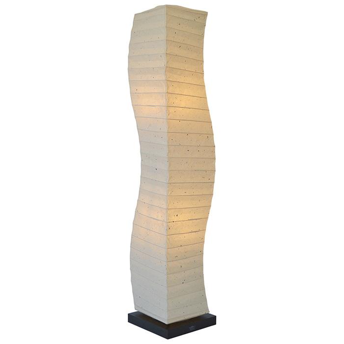 フロアライト 和紙 wrap 粕紙 電球付属 幅210x奥行210x高さ1040mm 彩光デザイン