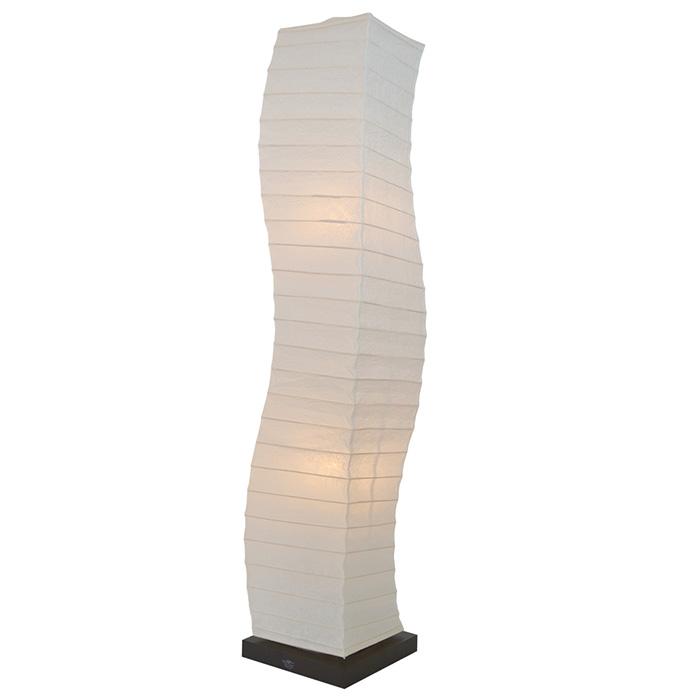 フロアライト 和紙 wrap 揉み紙 電球付属 幅210x奥行210x高さ1040mm 彩光デザイン