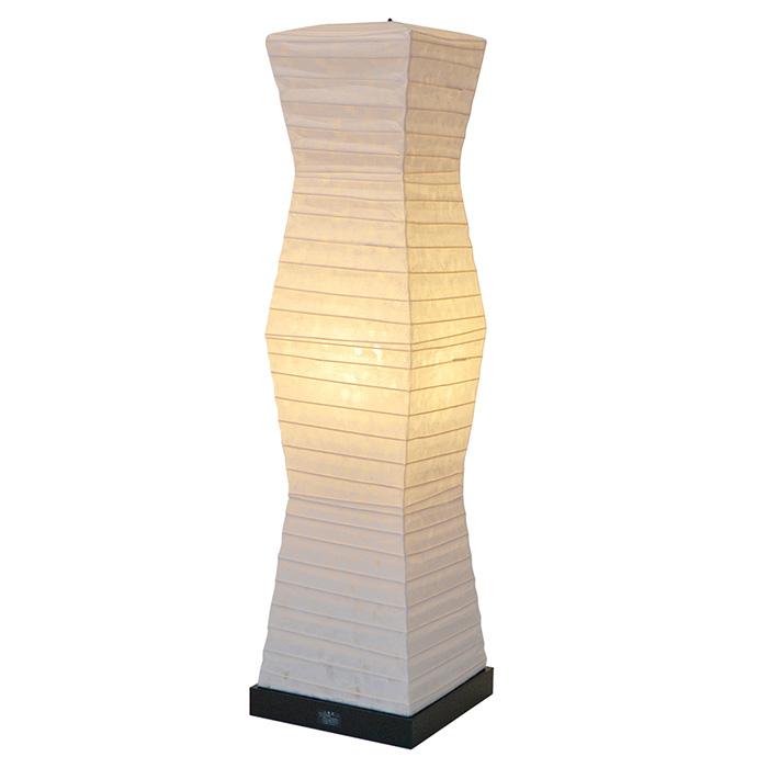 フロアライト 和紙 stone 糸入り落水紙 電球付属 幅190x奥行190x高さ710mm 彩光デザイン