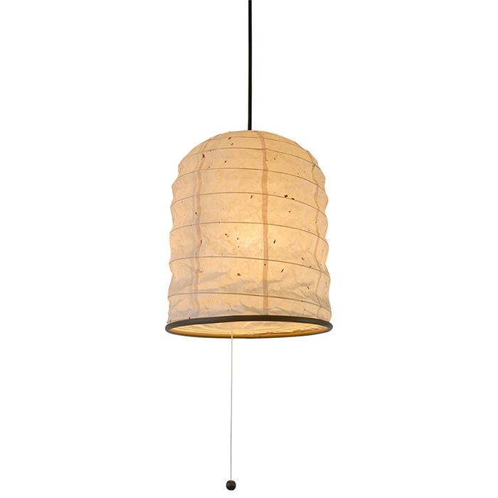 1灯 和紙 ペンダントライト yama 粕紙 電球付属なし シェードサイズ 幅250x奥行250x高さ300mm 彩光デザイン