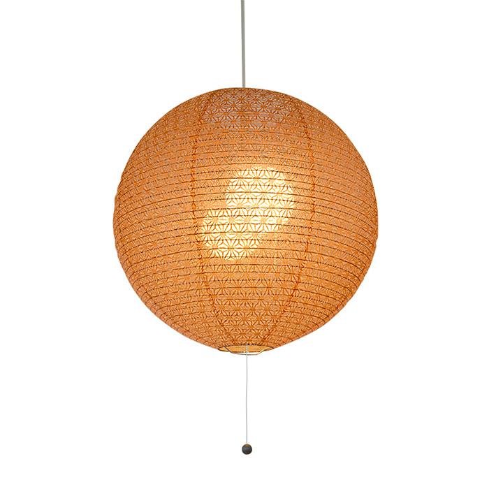 2灯 和紙 ペンダントライト fresh 麻葉煉瓦 電球付属なし シェードサイズ 幅390x奥行390x高さ370mm 彩光デザイン