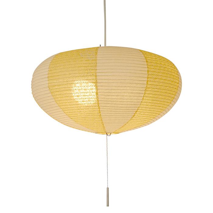 2灯 和紙 ペンダントライト koma 光輝×麻葉菜種 電球付属なし シェードサイズ 幅500x奥行500x高さ270mm 彩光デザイン