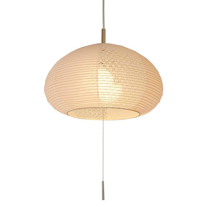 2灯 和紙 ペンダントライト chestnut 雨だれピンク×小梅ピンク 電球付属なし シェードサイズ 幅400x奥行400x高さ270mm 彩光デザイン