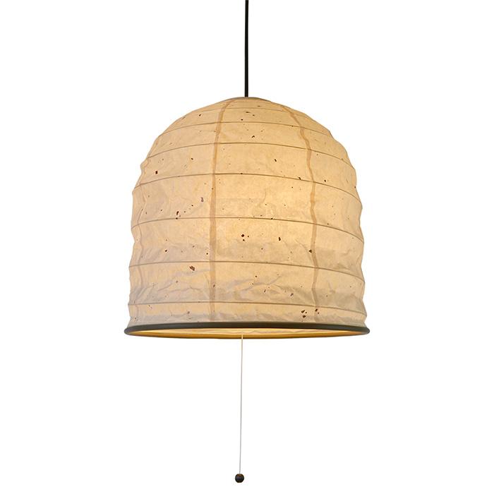 2灯 和紙 ペンダントライト yama 粕紙 電球付属なし シェードサイズ 幅380x奥行380x高さ370mm 彩光デザイン