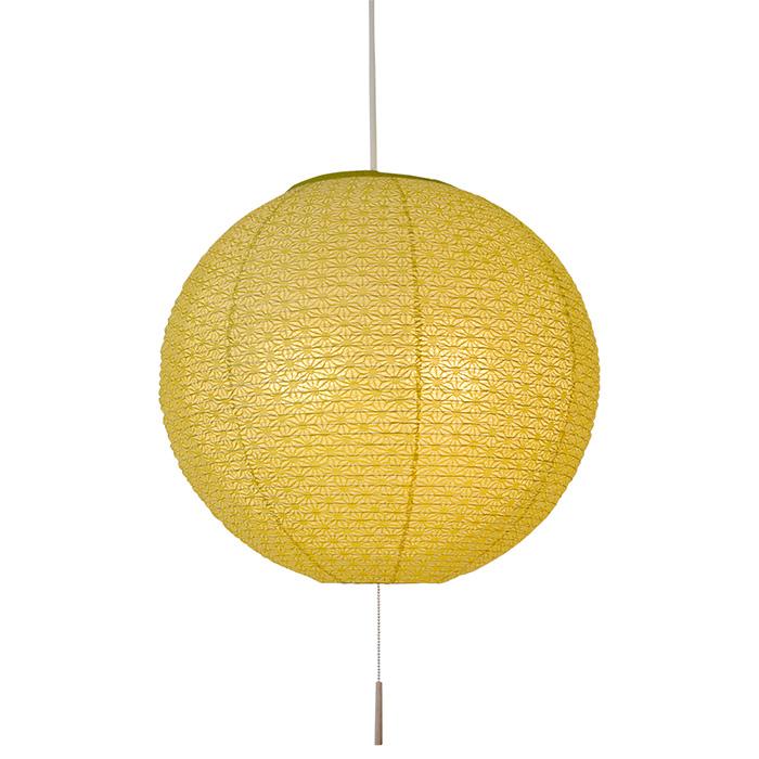 2灯 和紙 ペンダントライト bud 麻葉萌葱in麻葉白 電球付属なし シェードサイズ 幅450x奥行450x高さ420mm 彩光デザイン
