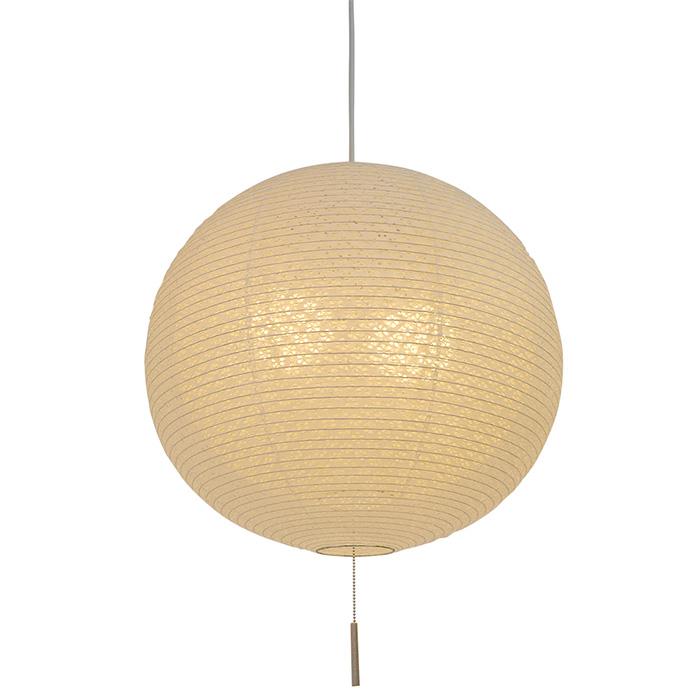 2灯 和紙 ペンダントライト bud 小梅白in小梅ベージュ 電球付属なし シェードサイズ 幅450x奥行450x高さ420mm 彩光デザイン