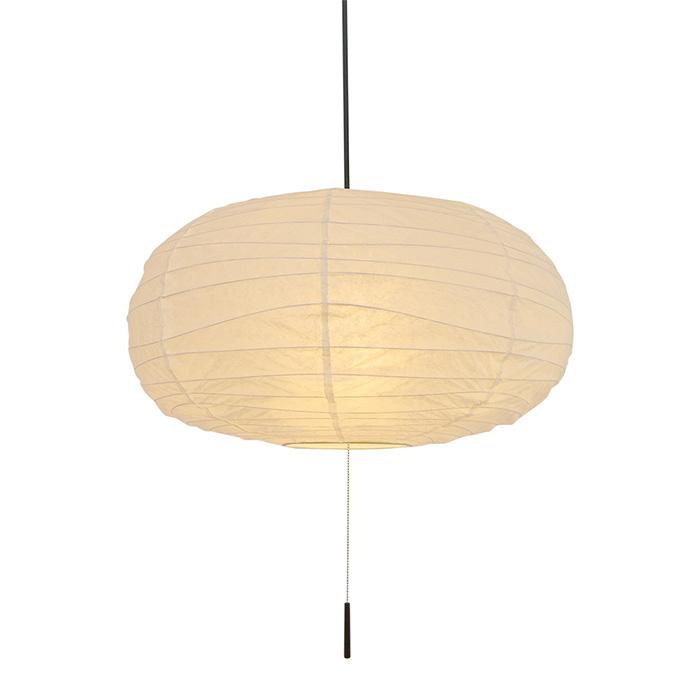 2灯 和紙 ペンダントライト cotton 揉み紙 電球付属なし シェードサイズ 幅500x奥行500x高さ270mm 彩光デザイン