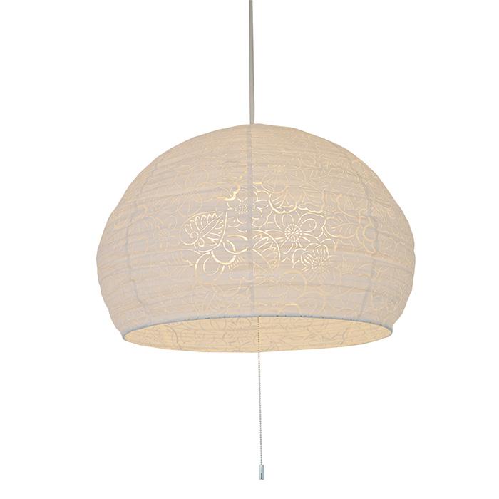 3灯 和紙 ペンダントライト komorebi 椿 電球付属なし シェードサイズ 幅450x奥行450x高さ320mm 彩光デザイン