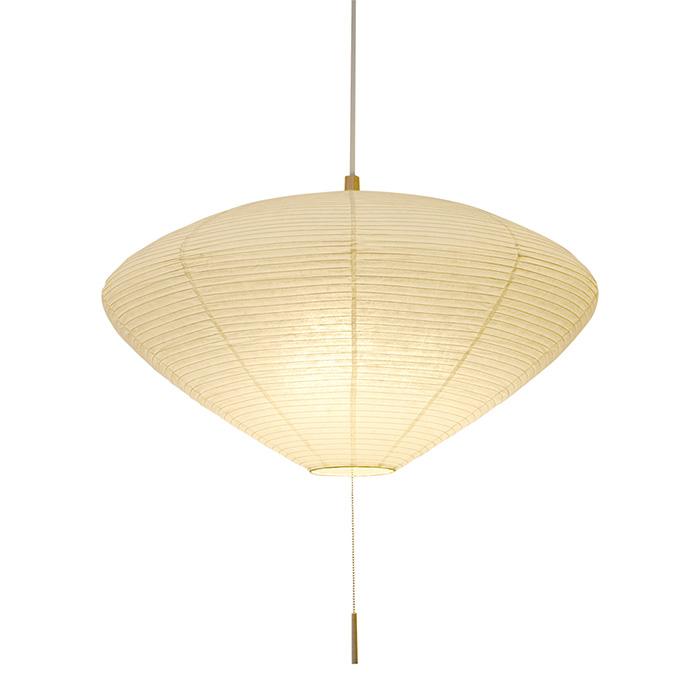 3灯 和紙 ペンダントライト linger 楮紙茶 電球付属なし シェードサイズ 幅620x奥行620x高さ300mm 彩光デザイン