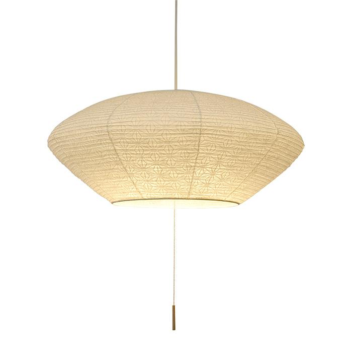 3灯 和紙 ペンダントライト spin 極み麻葉 電球付属なし シェードサイズ 幅620x奥行620x高さ260mm 彩光デザイン