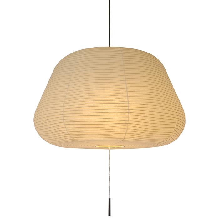3灯 和紙 ペンダントライト mochi 本美濃紙 電球付属なし シェードサイズ 幅540x奥行540x高さ350mm 彩光デザイン