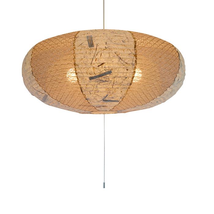 4灯 和紙 ペンダントライト island ツインバナナ 電球付属なし シェードサイズ 幅600x奥行600x高さ275mm 彩光デザイン