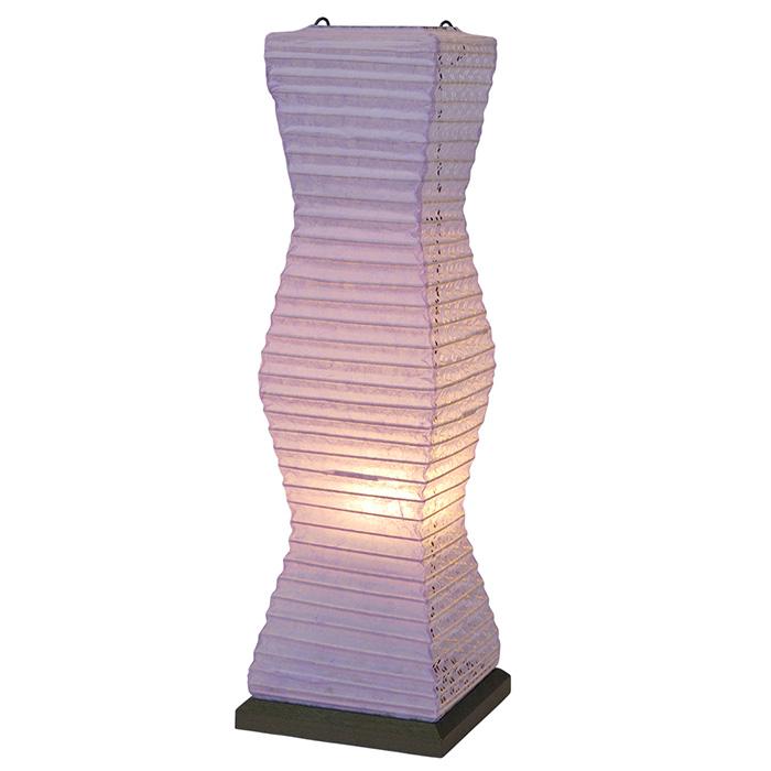 テーブルライト 和紙 twig ツインパープル 電球付属 幅140x奥行140x高さ480mm 彩光デザイン