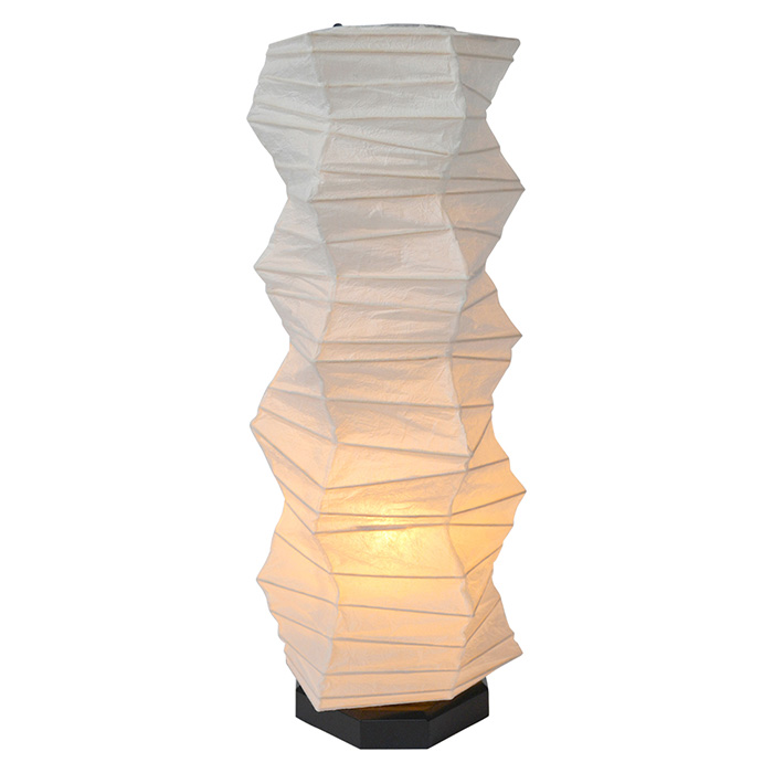 テーブルライト 和紙 boko 揉み紙 電球付属 幅190x奥行190x高さ480mm 彩光デザイン