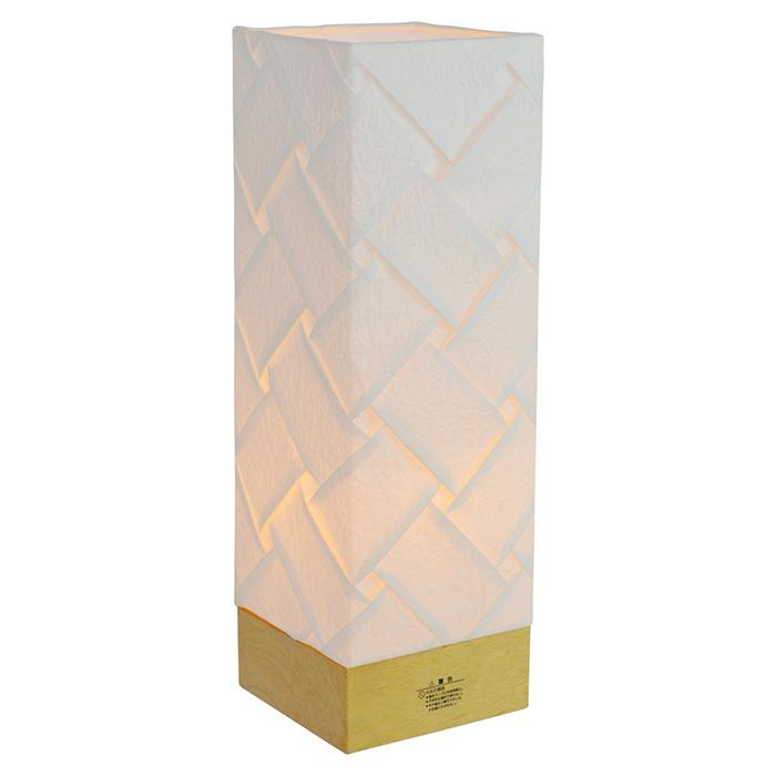 テーブルライト 和紙 hime 織姫 電球付属 幅90x奥行90x高さ300mm 彩光デザイン