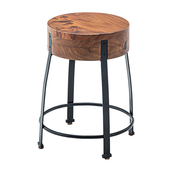 椅子 天然木 ジェラルド ウッド スツール JW-107 幅38x奥行38x高さ46cm 東谷