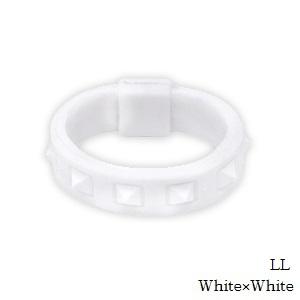 BANDEL/指輪/アクセサリー/ホワイト (正規品)バンデル スタッズ リング White×White LL