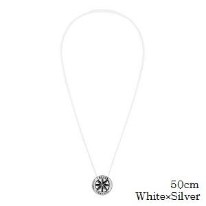(正規品)バンデル メタル ネックレス White×Silver 50cm