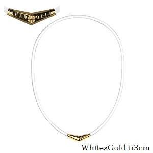 (正規品)バンデル チタン ラバー ネックレス White×Gold 53cm