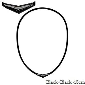(正規品)バンデル チタン ラバー ネックレス Black×Black 45cm