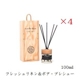 【×4セット】Vanilla Blanc バニラブラン リードディフューザー 100ml フレッシュリネン&ボア・プレシュー