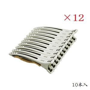 (×12セット)アイビル タフクリップ TC-17A01 ホワイト 10本入