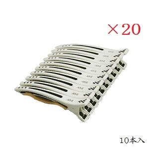 (×20セット)アイビル タフクリップ TC-17A01 ホワイト 10本入