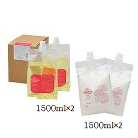 (セット)中野製薬 ナカノ グラマラスカール シャンプー やわらかスタイル 3000ml (1500ml×2) レフィル 詰替用+リペアメント やわらかスタイル 3000ml (1500ml×2) レフィル 詰替用