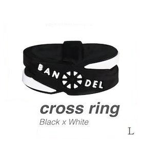 BANDEL/ブラックホワイト (正規品)バンデル クロスリング Black×White L