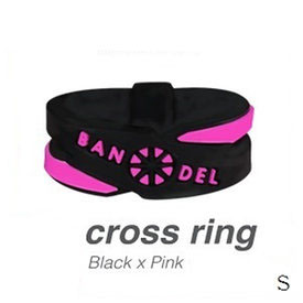 BANDEL/ブラックピンク (正規品)バンデル クロスリング Black×Pink S