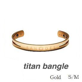 (正規品)バンデル チタン バングル Gold S/M