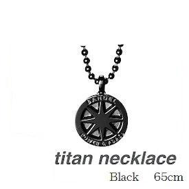 (正規品)バンデル チタン ネックレス Black 65cm