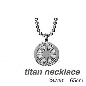 (正規品)バンデル チタン ネックレス Silver 65cm