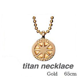 (正規品)バンデル チタン ネックレス Gold 65cm