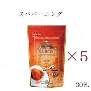 【×5セット】エステプロラボ ハーブティープロ スパバーニング 30包