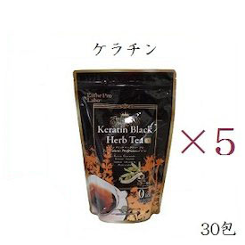 【×5セット】エステプロラボ ハーブティープロ ケラチン ブラック 30包