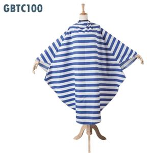 【送料無料】ロイヤルナイト東京 GBTC100 カットクロス (袖付き)ブルー&ホワイト ボーダー / カットケープ 業務用【ラッキーシール対応】