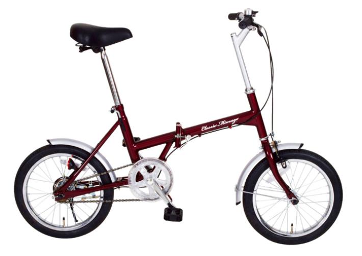 Classic Mimugo / クラッシック ミムゴ FDB16 16インチ 折畳み自転車 クラシックレッド メーカー直送 代引・日時指定不可 北海道・沖縄・離島配送不可