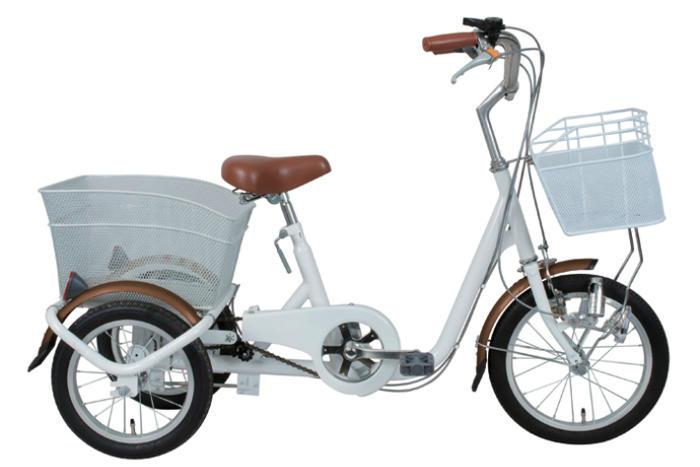 SWING CHARLIE ロータイプ三輪自転車 MG-TRE16-WH スイングチャーリー 16インチ三輪自転車 メーカー直送 代引・日時指定不可 北海道・沖縄・離島配送不可