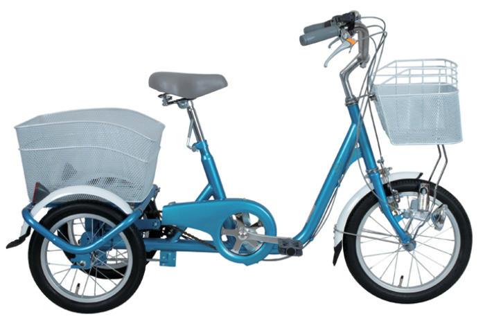 SWING CHARLIE ロータイプ三輪自転車 MG-TRE16-BL スイングチャーリー 16インチ三輪自転車 メーカー直送 代引・日時指定不可 北海道・沖縄・離島配送不可