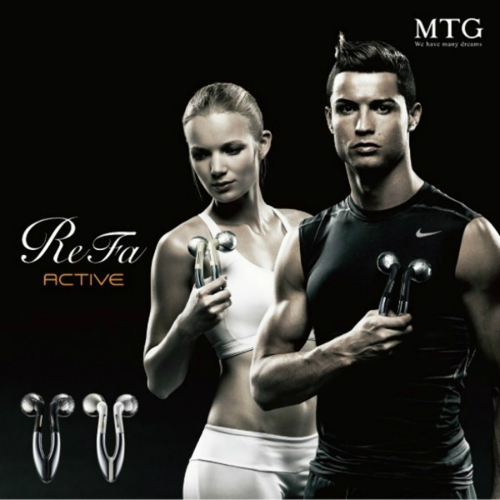 MTG ReFa ACTIVE エムティージー リファアクティブ ホワイト RF-AC1929B-W | 美顔器 美容 美顔ローラー ボディケア マッサージ 送料無料
