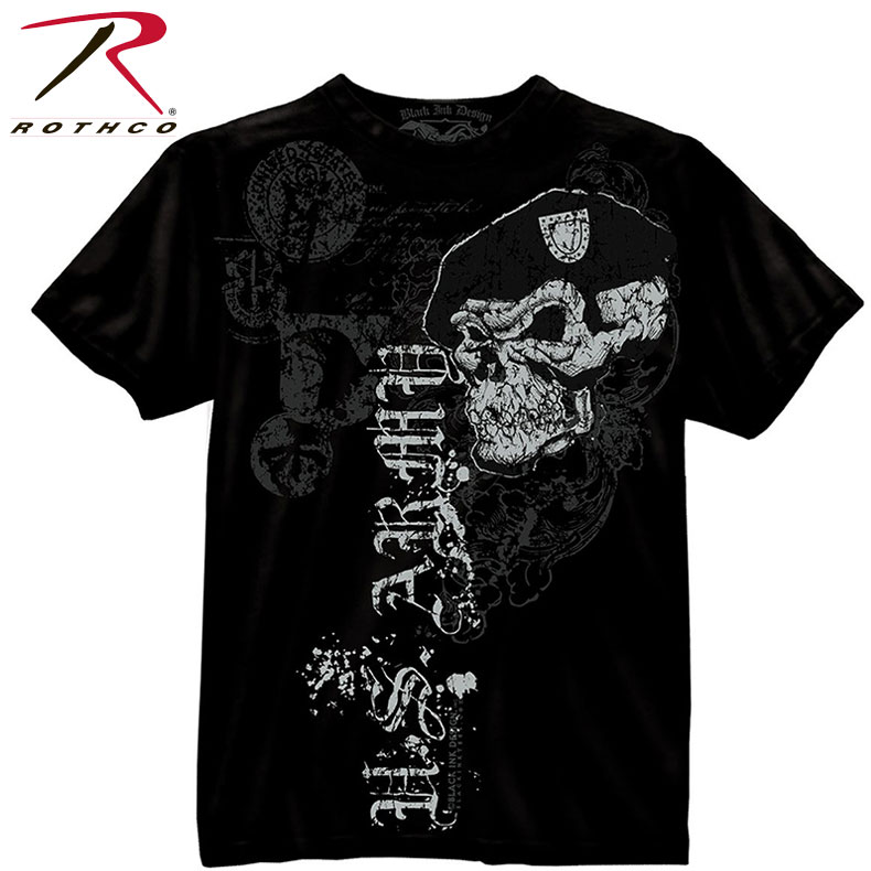 Army Black PT Short Sleeve Physical Training Sport Tee T-Shirt Rothco 60363