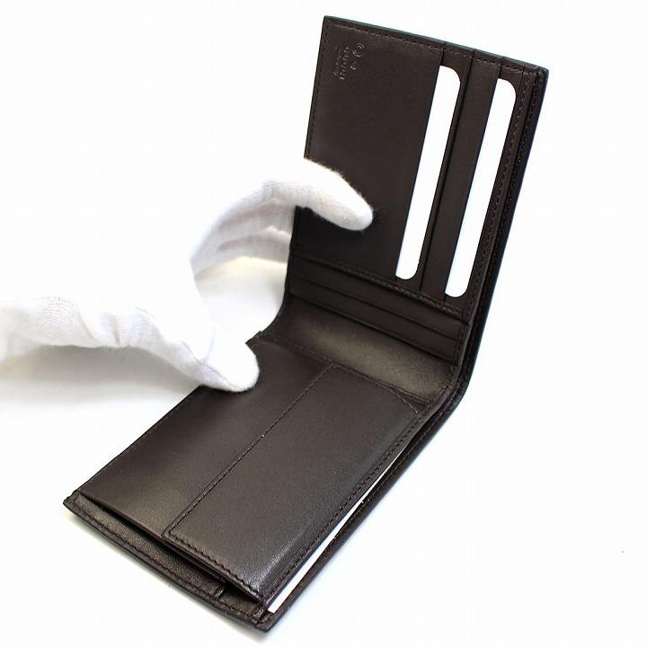グッチ GUCCI 財布 二つ折り財布 メンズ 折財布 マイクロ GG レザー 本革 ダークブラウン グッチシマ ブランド アウトレット292534 bmj1n 2044gyYbf76