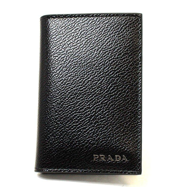 プラダ PRADA 名刺入れ カードケース レザー 本革 ブラック ネイビー アウトレット ブランド メンズ 2mc101-vimigr-neba 2020 春夏 新作