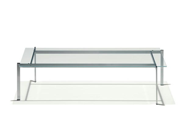 リビングテーブル ガラステーブル EC-113 120×60cm 長方形 クロームメッキフレーム シンプル モダン