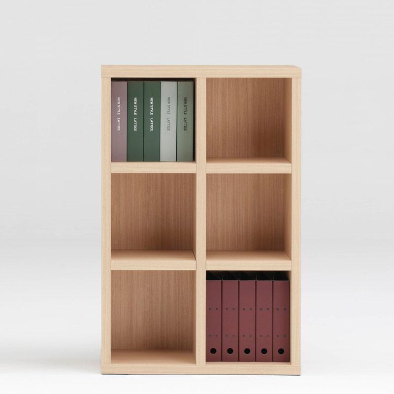 本棚 書棚 ディスプレイ棚 LATTICE 75 ブックシェルフ ロータイプ