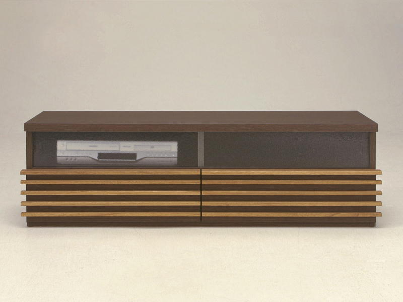 テレビ台 TVボード テレビボード AVボード HORIZON 123S ガラス引戸タイプ カラーオーダー 奥行サイズオーダー 薄型 国産品 北欧モダン