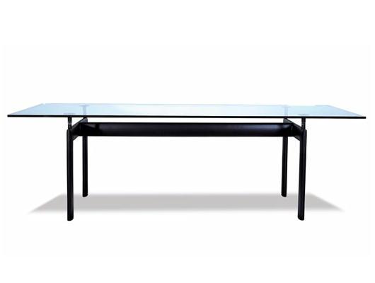 シンプルなディテールが美しいコルビジェのLC6。 LC6 ダイニングテーブル L2250 ル・コルビジェ 15mm強化ガラス リプロダクト シンプルモダン