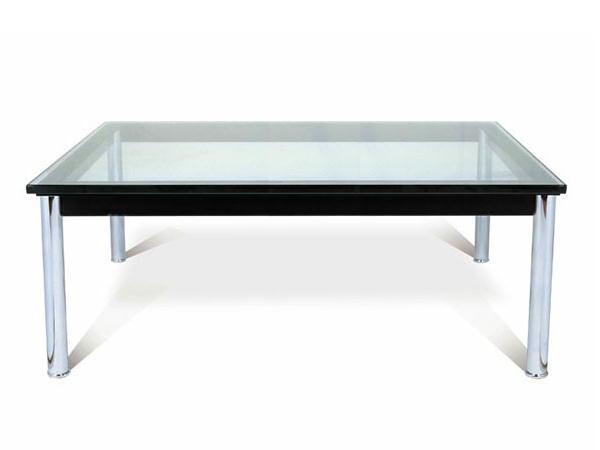 ガラステーブル ル・コルビジェ LC10 センターテーブル 15mm強化ガラス 120×80cm 長方形 デザイナーズ リプロダクト シンプルモダン ミッドセンチュリー